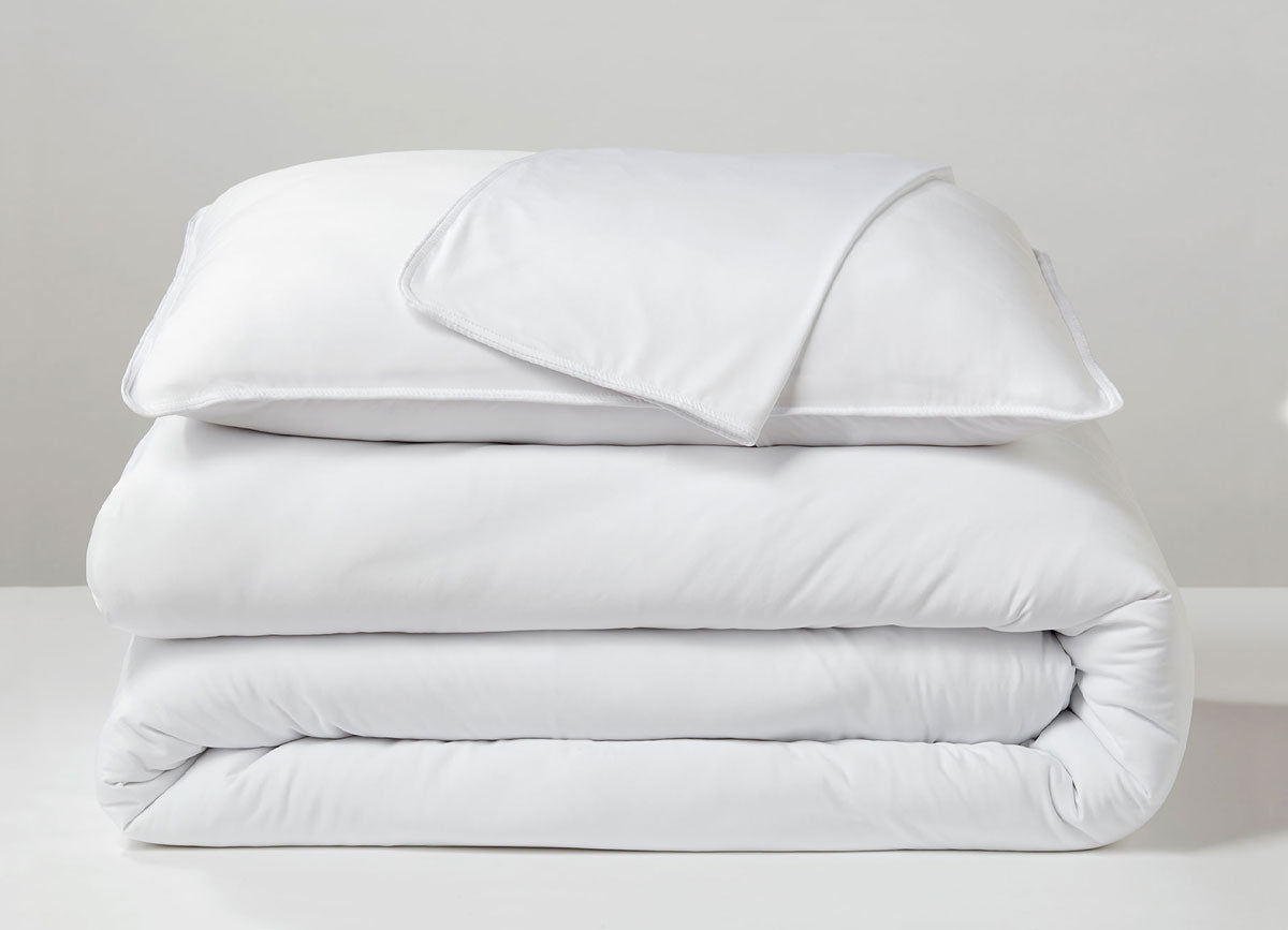 Bright White Duvet Cover folded stack #choose-your-color_bright-white