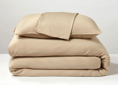 Khaki  Duvet Cover folded stack #choose-your-color_khaki