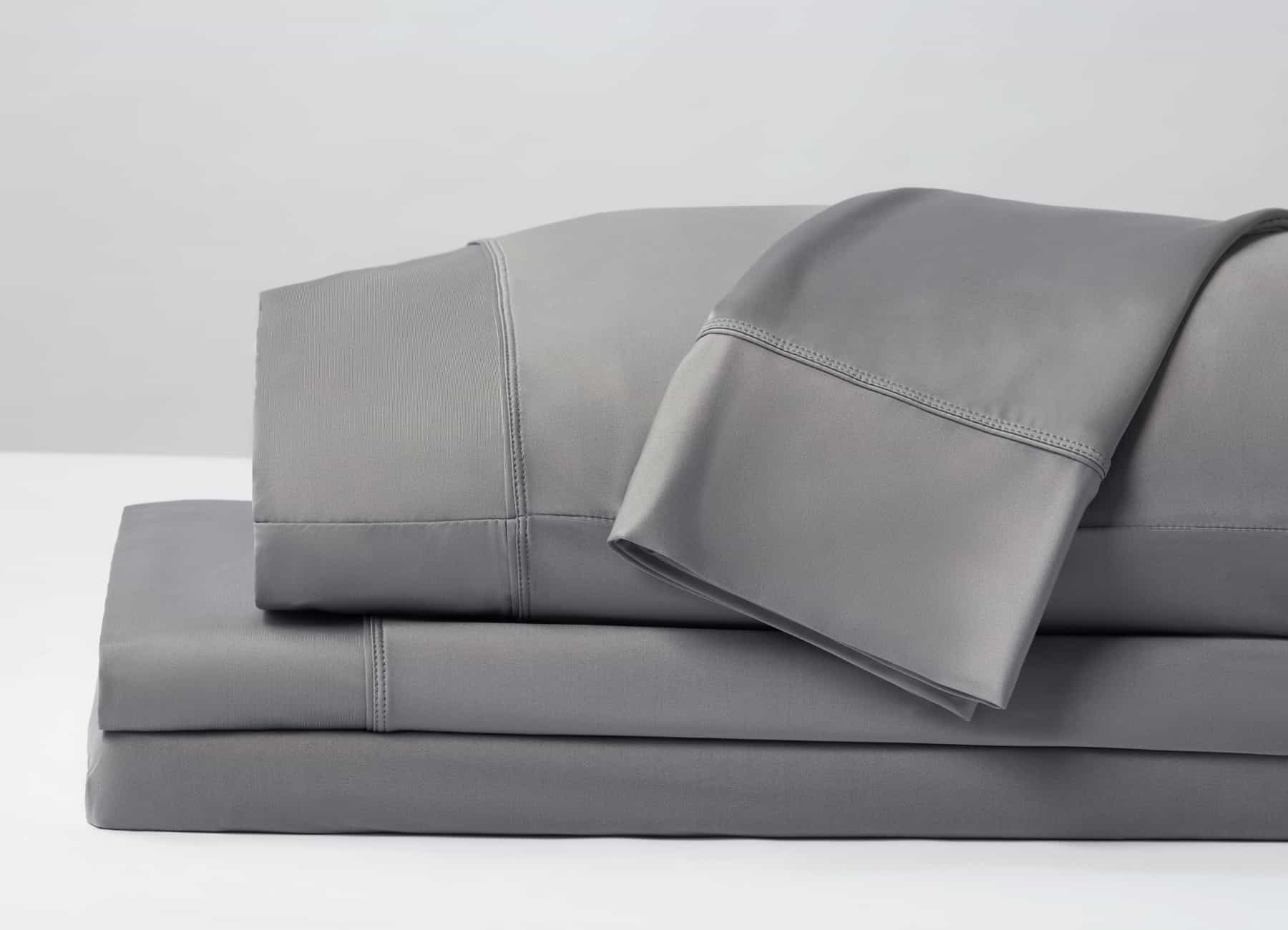 Original Performance Sheet Set Image Shown Folded and Stacked in Graphite #choose-your-color_graphite