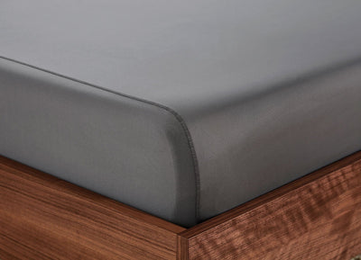 Original Performance Fitted Sheet on bed in Graphite #choose-your-color_graphite