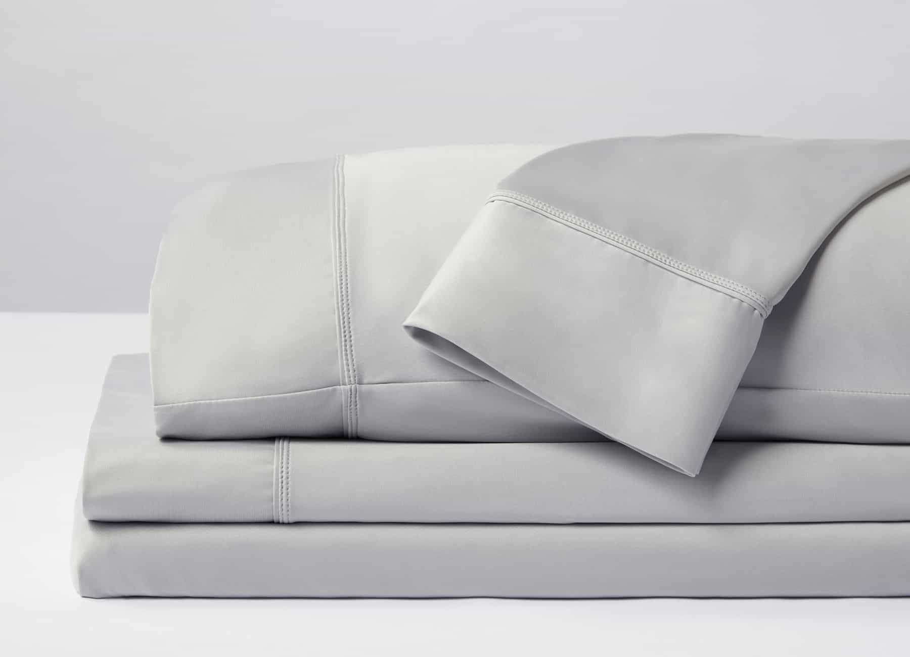 Original Performance Sheet Set Image Shown Folded and Stacked in Pearl Blue #choose-your-color_pearl-blue