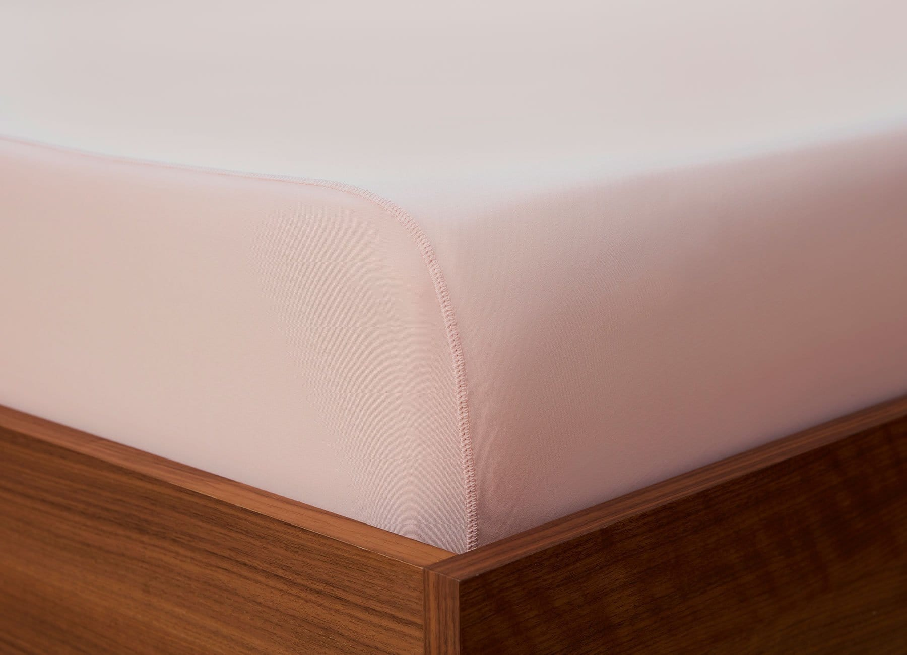 Original Performance Fitted Sheet on bed in Blush Pink #choose-your-color_blush-pink