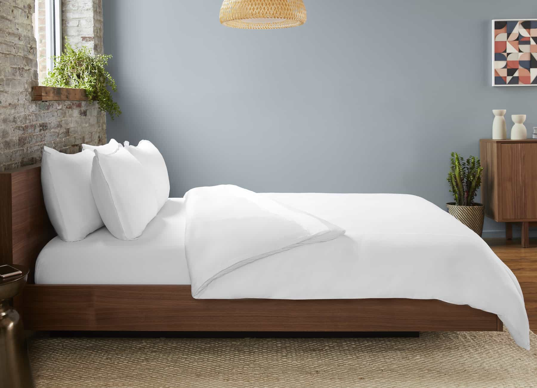 Original Performance Sheet Set Lifestyle Image Shown in Bright White #choose-your-color_bright-white