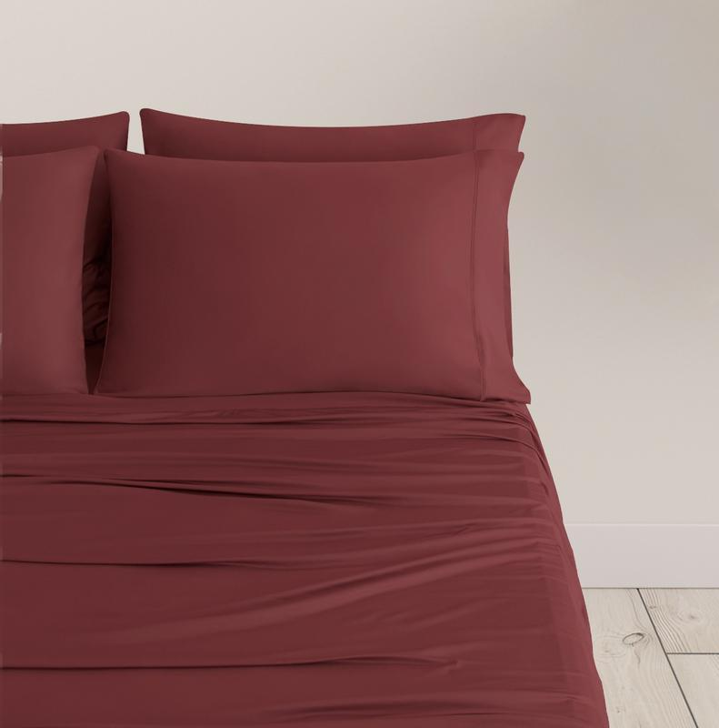 EXPERIENCE Pillowcases burgundy 1