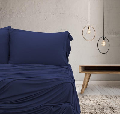 WOOL TECH Sheet Set navy