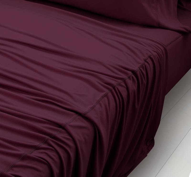 WOOL TECH Sheet Set maroon