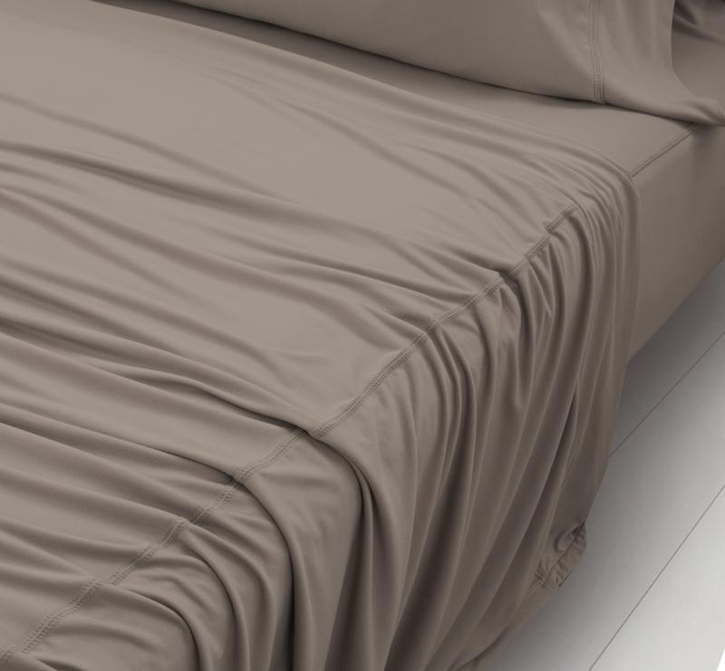 WOOL TECH Sheet Set taupe