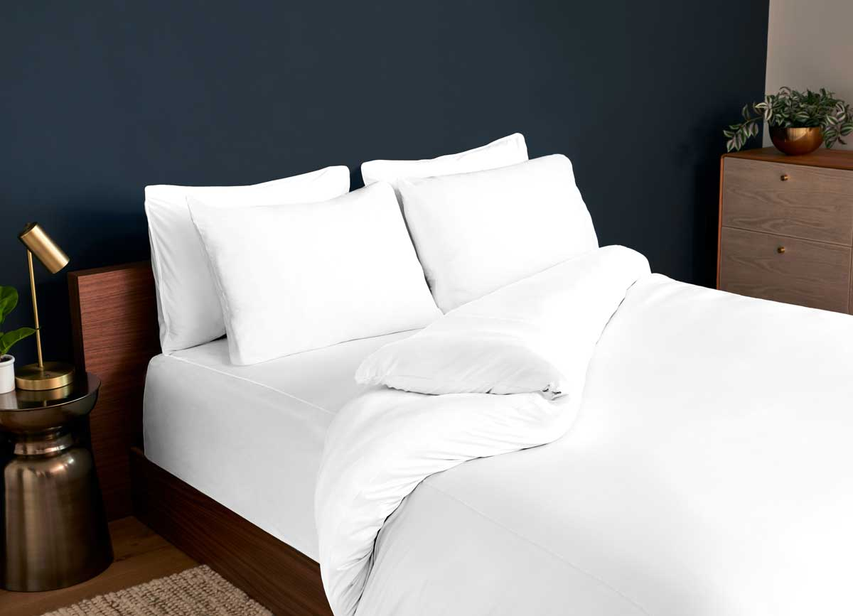 Studio Tech Bedding in Bright White in room environment#choose-your-color_bright-white