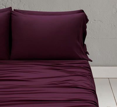 WOOL TECH Pillowcases maroon