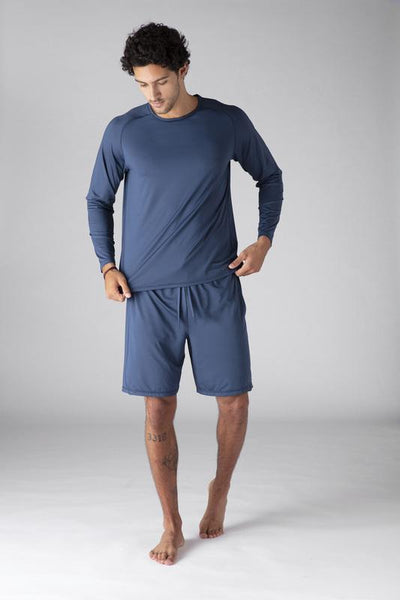 SHEEX Men's Long Sleeve Tee slate-blue