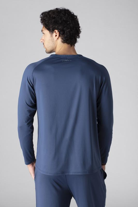 SHEEX Men's Long Sleeve Tee slate-blue 3