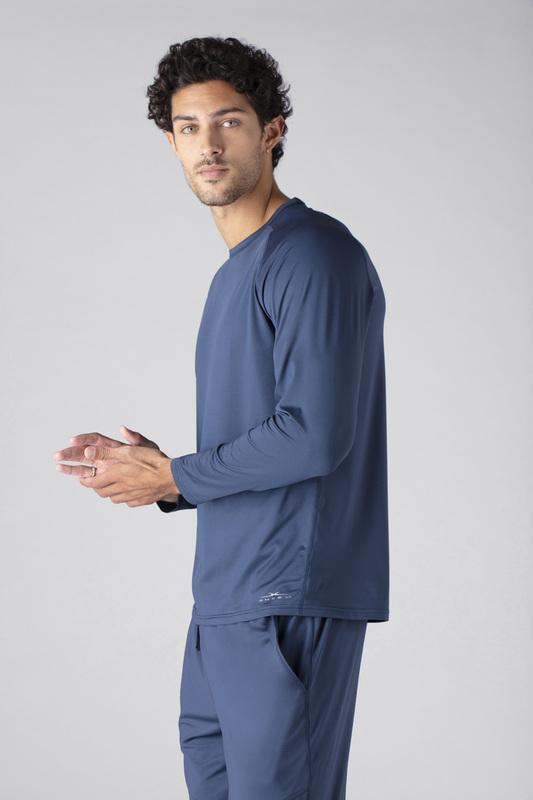 SHEEX Men's Long Sleeve Tee slate-blue 4