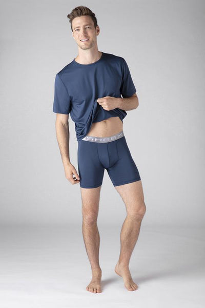 SHEEX Men's Boxer Brief slate-blue 2
