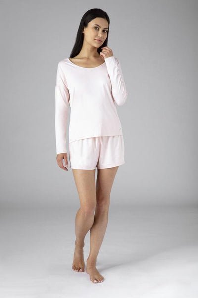 SHEEX Women's Open Back LS Tee blush-pink