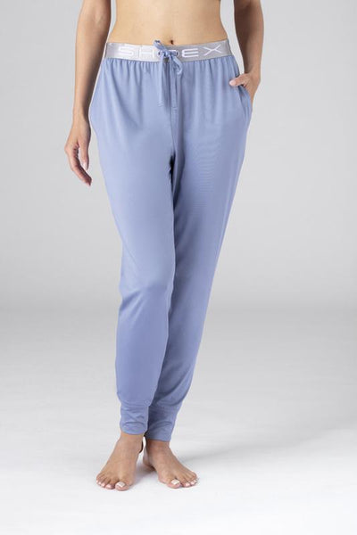 Model wearing SHEEX Women's Modern Jogger in light-blue #choose-your-color_light-blue