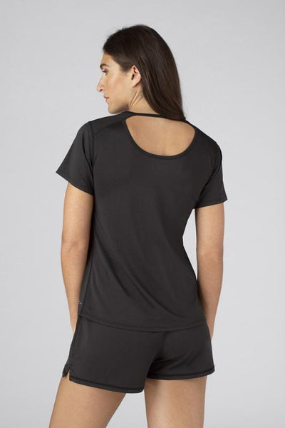 SHEEX Women's Cutout Tee black