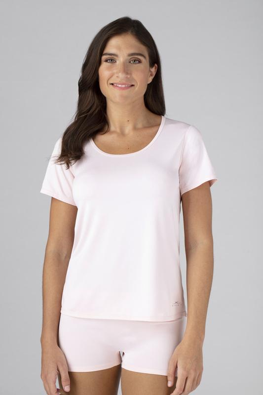 SHEEX Women's Cutout Tee blush-pink