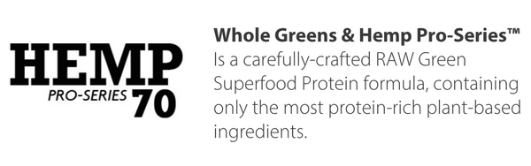 Ergogenics Whole Greens Hemp Pro 70 Series