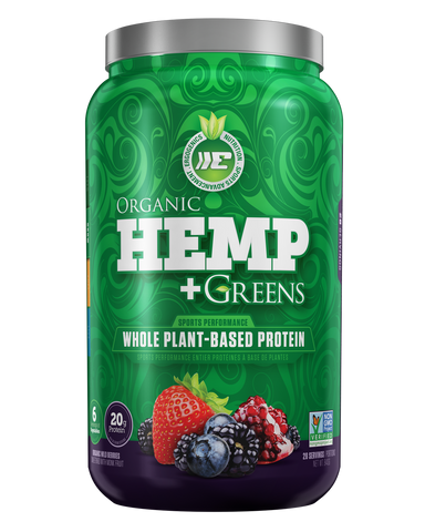 Ergogenics Organic Hemp plus Greens - Organic Wild Berries Sweetened with Monk Fruit 840g