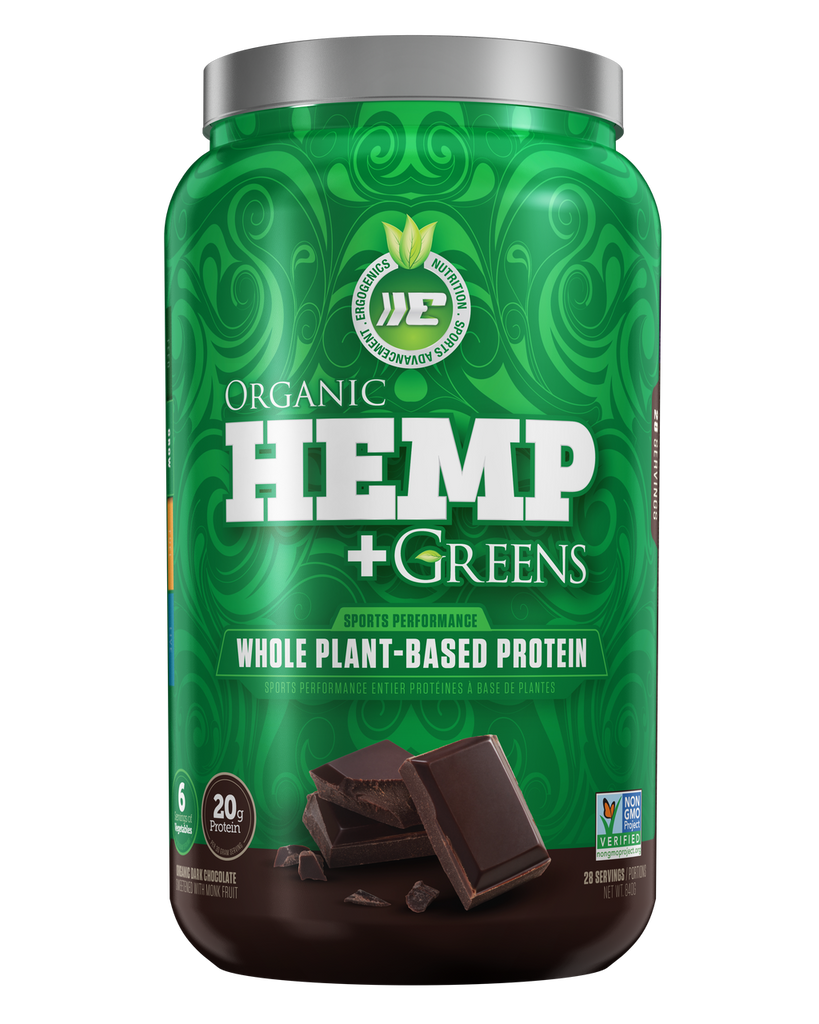 Ergogenics Organic Hemp plus Greens - Organic Dark Chocolate 840g