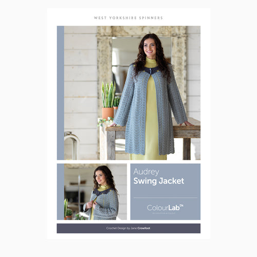 WYS Audrey Swing Jacket Crochet Pattern for Colour Lab