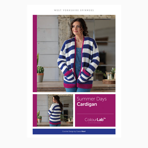 WYS Summer Days Cardigan Crochet Pattern for Colour Lab