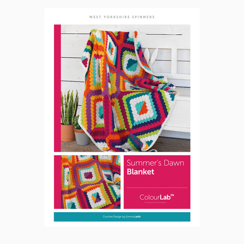 WYS Summer's Dawn Blanket Crochet Pattern for Colour Lab