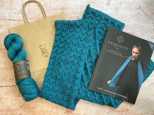 WYS Exquisite 4 ply - Yarn & Pattern Kit - Eve Fishtail Scarf