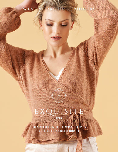 WYS Charlotte Ruffle Wrap Top Pattern for Exquisite 4 ply