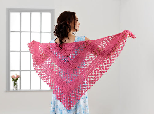 WYS - The Florist Collection - 'Florabelle' Crochet Shawl