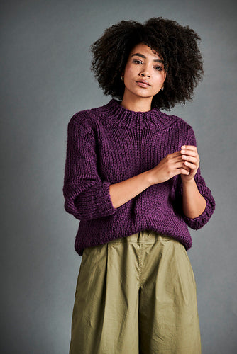 Passerby Sweater Pattern for Erika Knight Maxi Wool