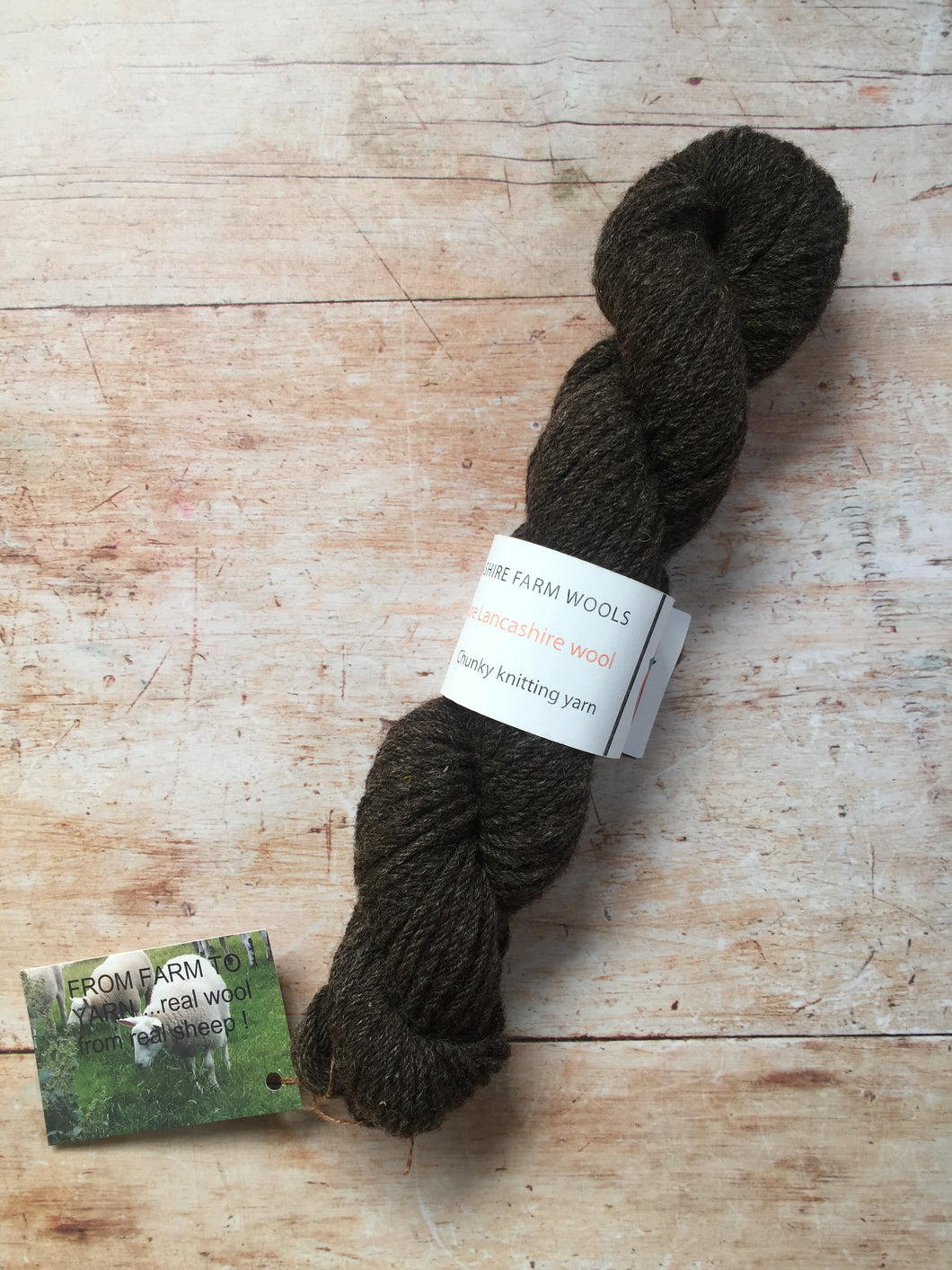 Lancashire Farm Wool - Black Welsh Mountain & BFL