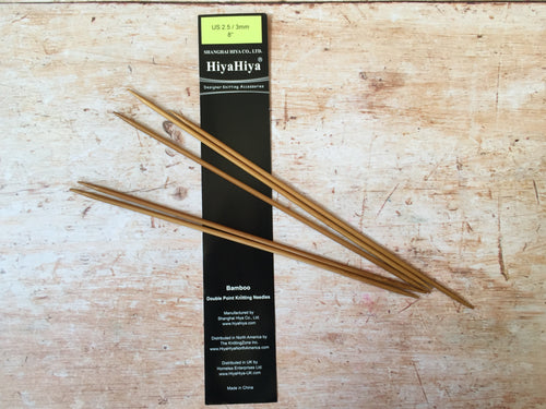 Hiya Hiya Bamboo DPN (double pointed needles)