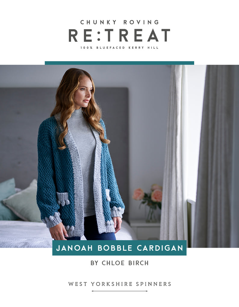 WYS Janoah Cardigan Pattern for Retreat Yarn