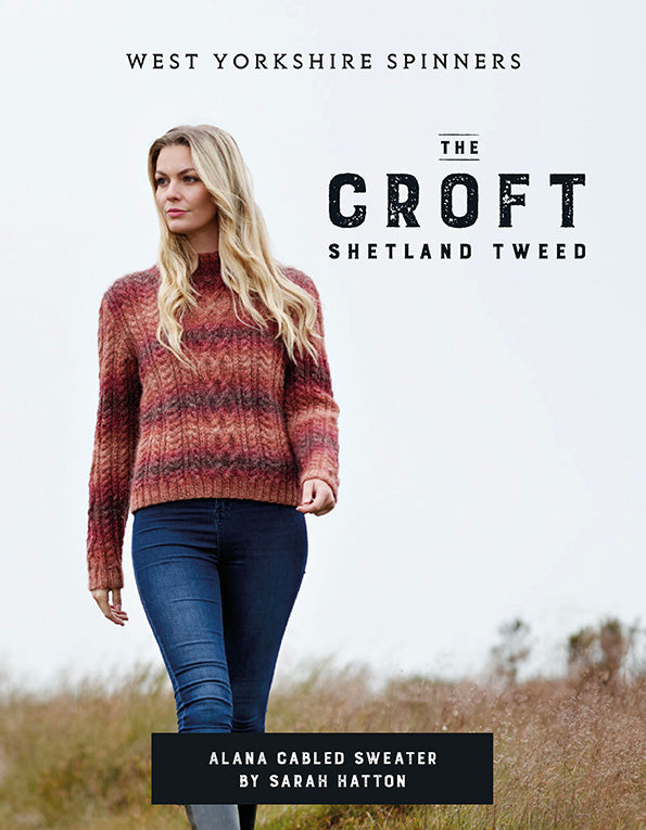 WYS - The Croft - Wild Shetland - Alana Cabled Sweater Pattern