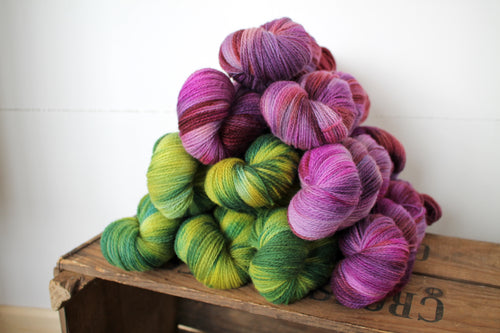 Northern Yarn - Jennett 4 ply Poll Dorset Lambswool hand dyed by RiverKnits