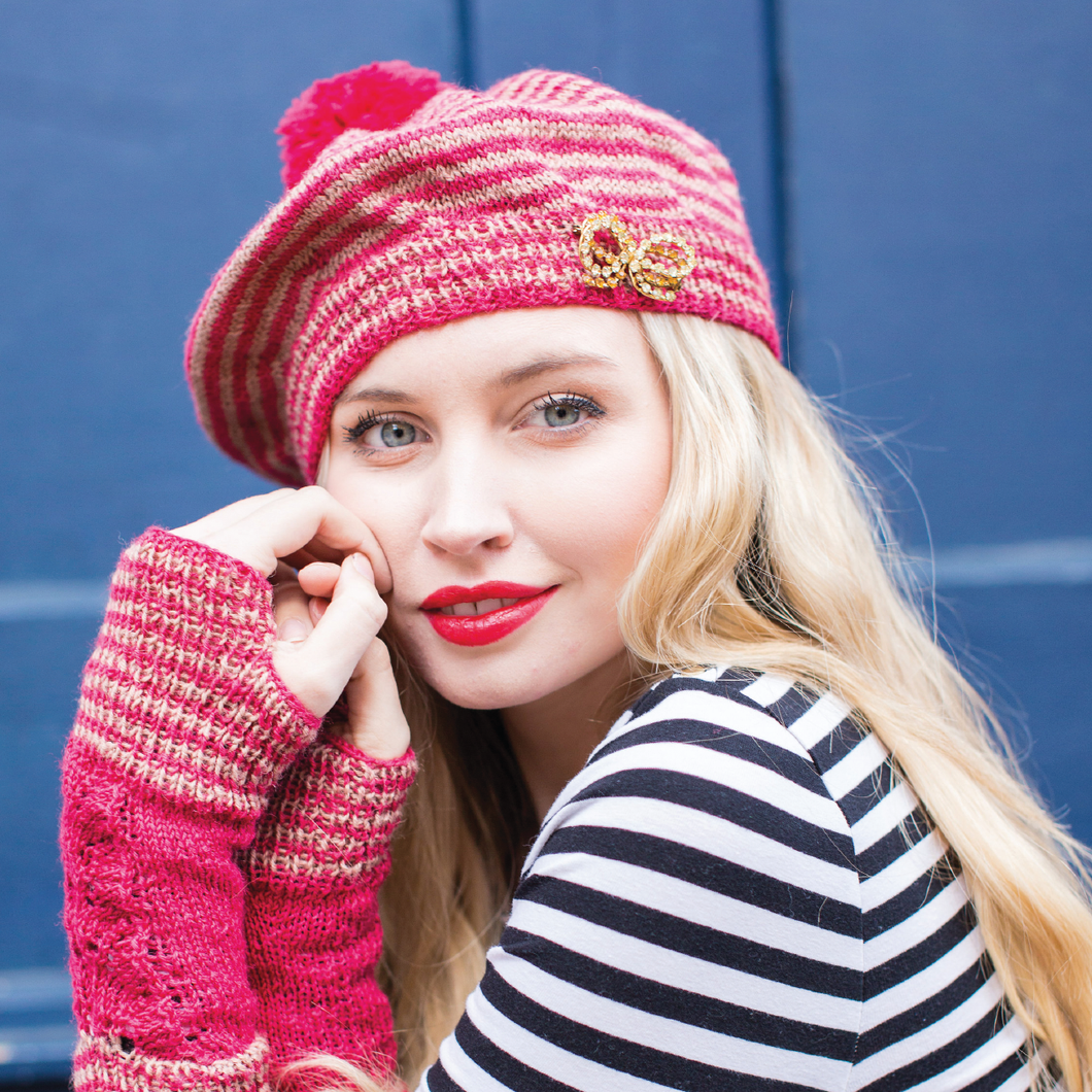 WYS - Pattern No. 4 - Brittany Lace Beret & Hand Warmers