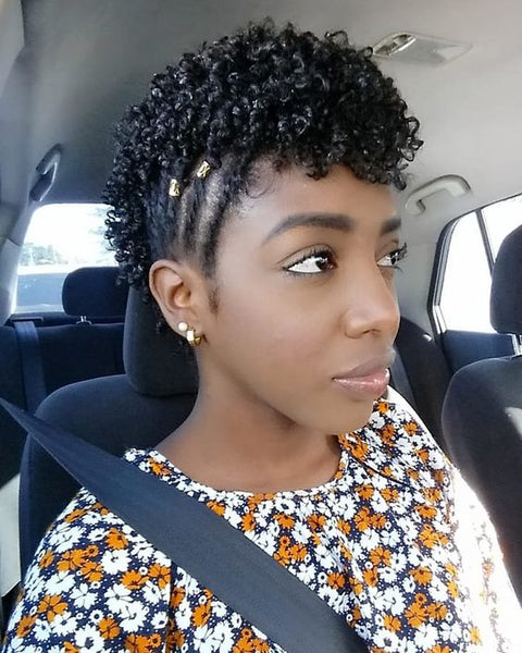 Cute Hairstyles for Natural Short Black Hair - Natural Girl Wigs