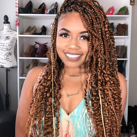 Waist Length Bohemian Box Braids