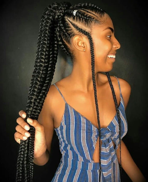Braided Ponytail - Natural Girl Wigs