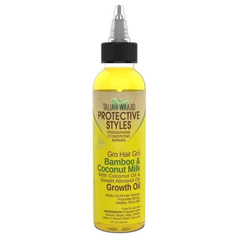 Taliah Waajid Protective Styles Gro Hair Gro Bamboo And Coconut Milk Growth Oil