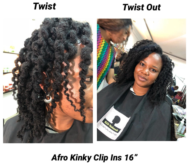 Afro Kinky Clip Ins - 4B/4C