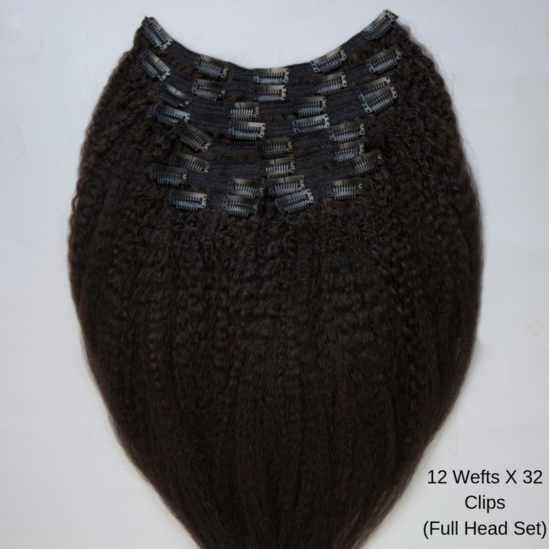 Kinky Blow out clip ins - naturalgirlwigs.com