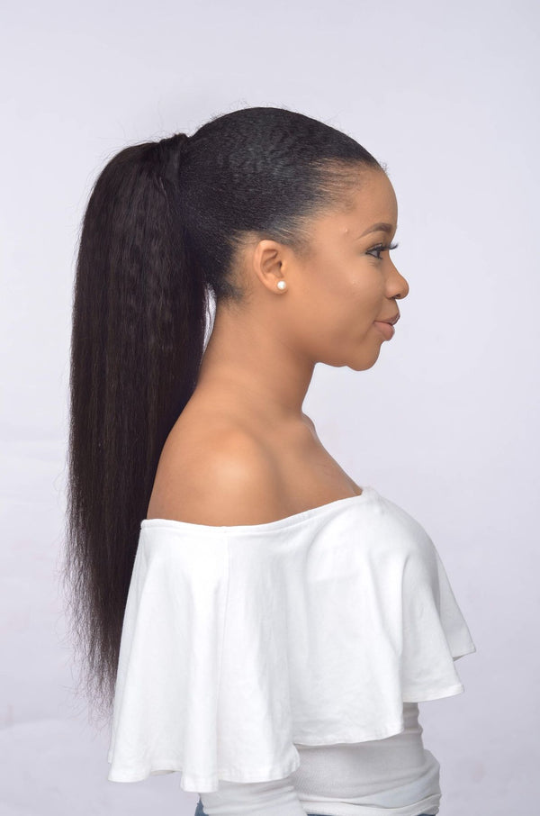 Kinky Blow out Ponytail - naturalgirlwigs.com