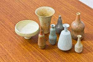 Collection of miniature vases by Gunnar Nylund