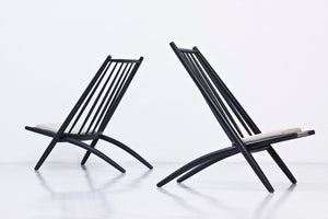 "Pair of ""Congo"" easy chairs by Tapiovaara"