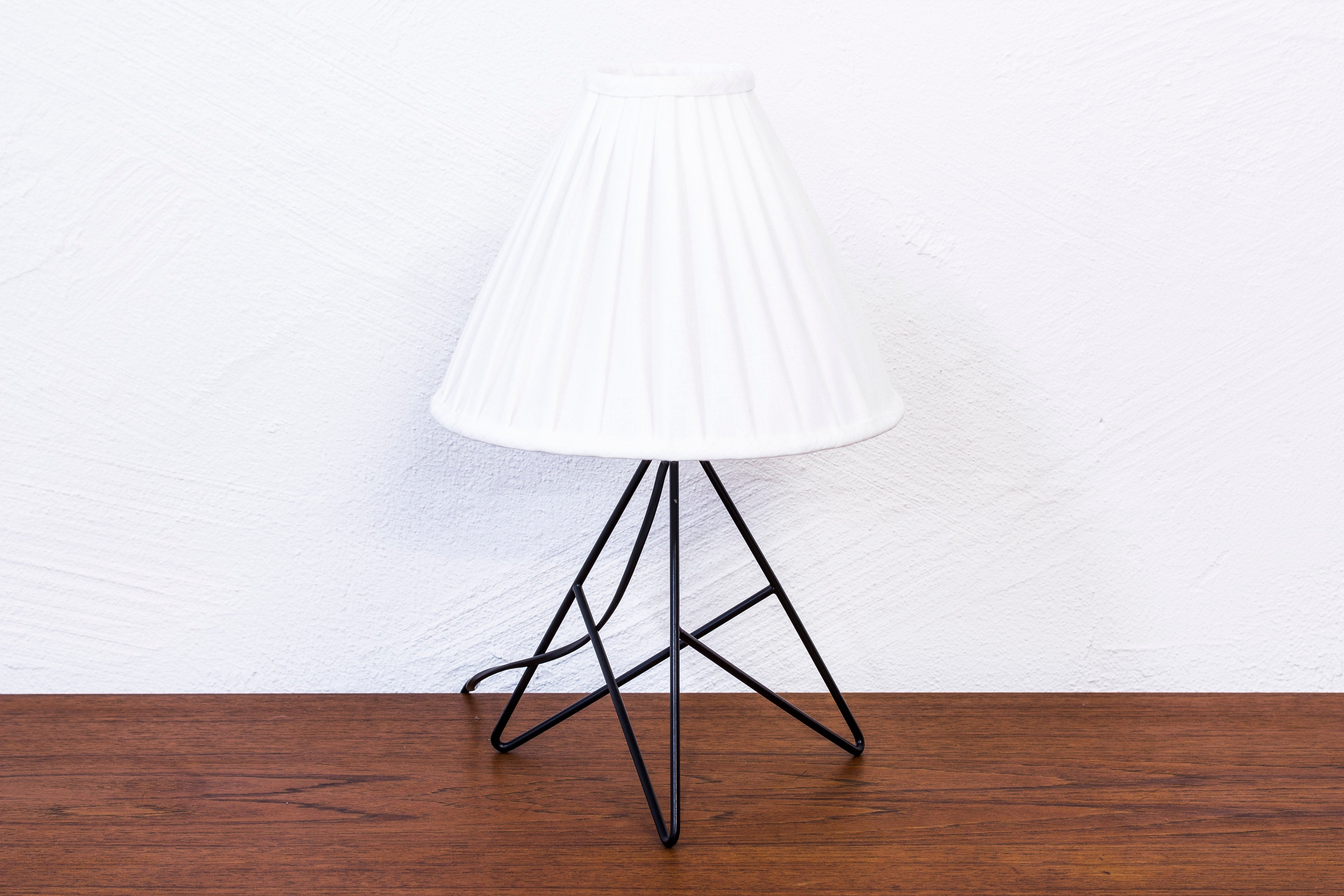 Rare 1950s table lamp by Nils Strinning