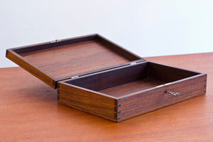 Danish 1950s rosewood beauty box