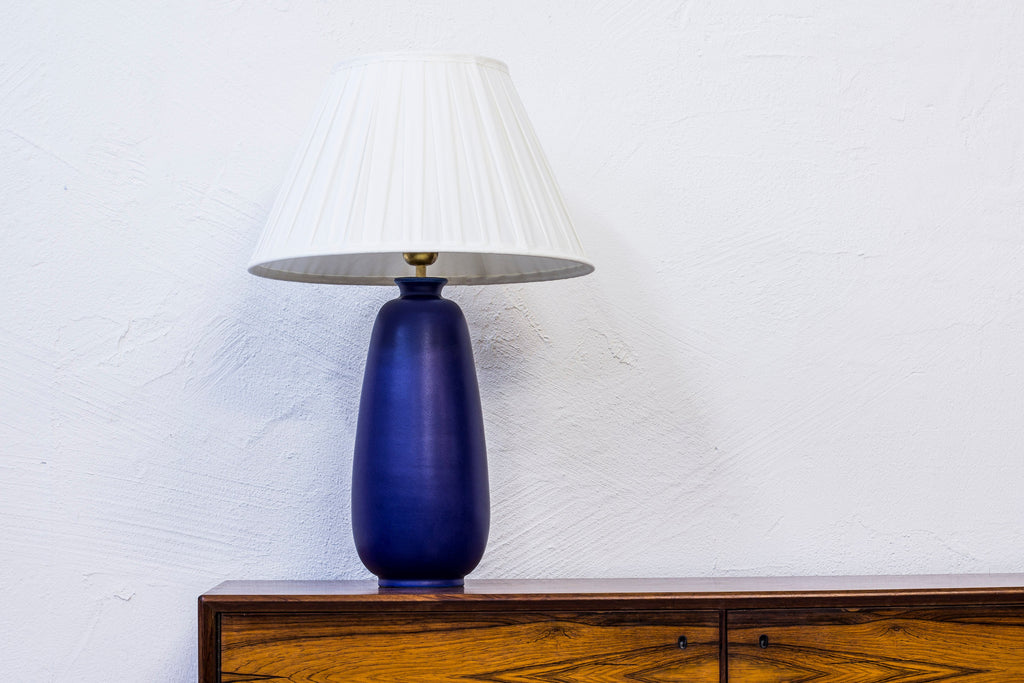 Large stoneware table lamp by Erich & Ingrid Triller