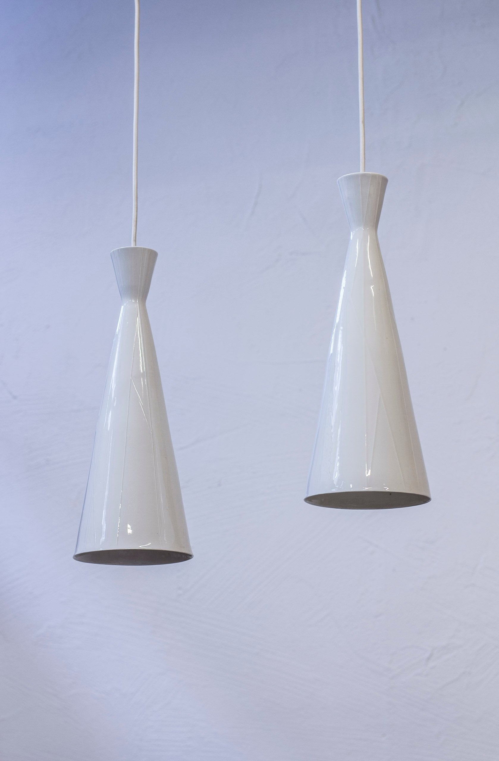 Pair of ceiling lights by Carl Harry Stålhane